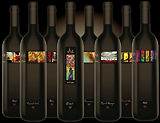 abstract art on wine labels