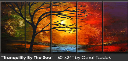 original artwork - landscape painting - FROZEN TIME by Osnat