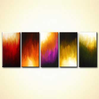 Abstract painting - Solar Flares
