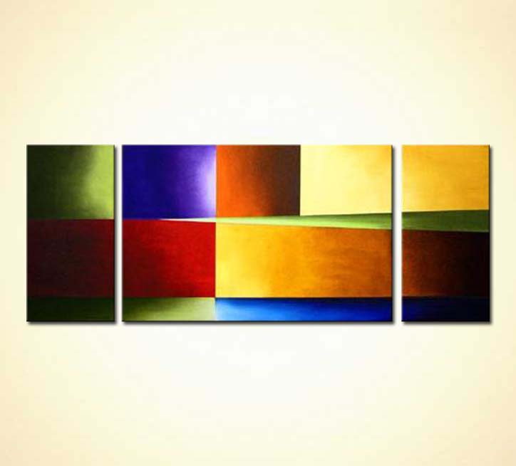 Buy Triptych Abstract Solid Colors 986
