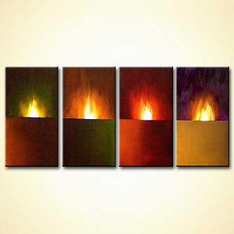 Abstract painting - Eternal Flame