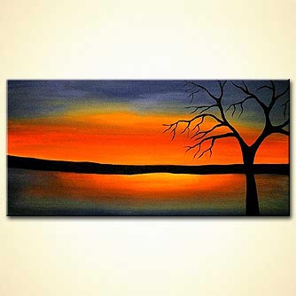 Landscape painting - I Will Touch the Sky