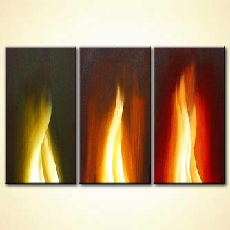 Abstract painting - A Gift of Fire