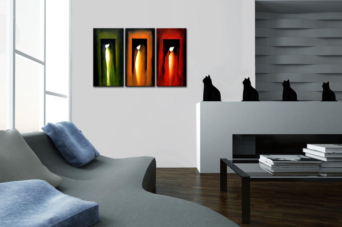 abstract painting three angels living room decor 1199