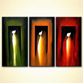 Abstract painting - Angels
