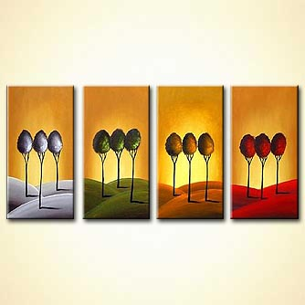 Forest painting - 4 Seasons