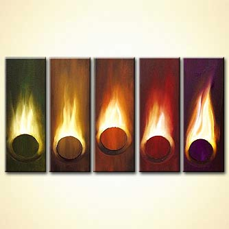Abstract painting - Playing with Fire