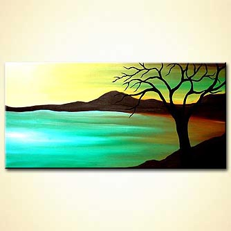 Landscape painting - The Blue Lagoon