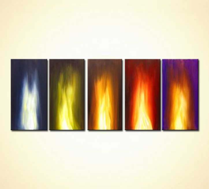 modern abstract art - Fire Within