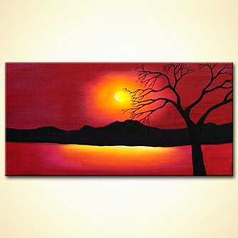 modern abstract art - Paradise Sunset