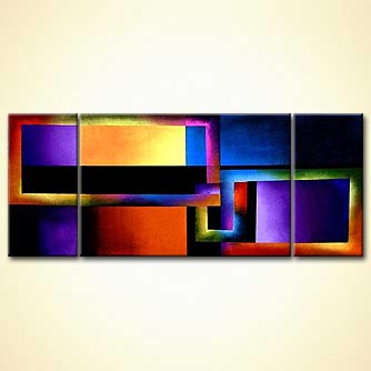 Abstract painting - Starting from Square One