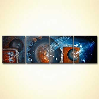 Abstract painting - Stars of the Rust Belt
