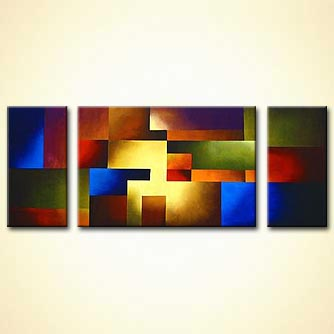 colorful abstract wall decor