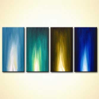 Abstract painting - Cold Fire