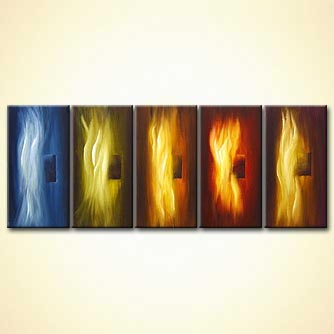 Abstract painting - Behind the Flames