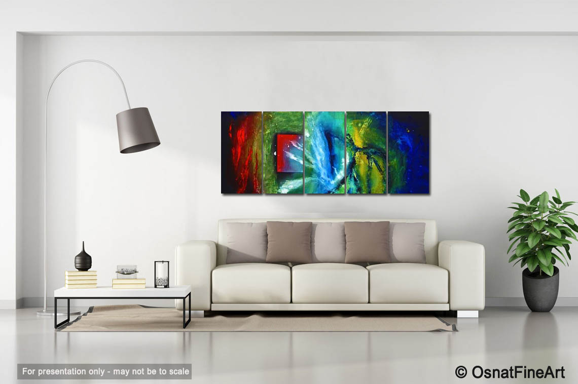 Abstract painting - multi panel canvas wall decor #1379