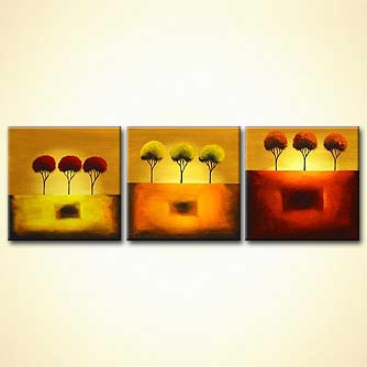 Forest painting - Three Steps to Heaven