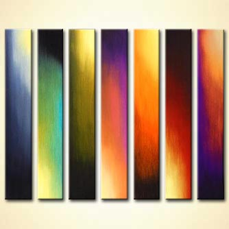 vertical multi panel abstract