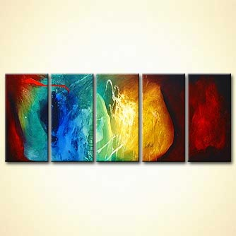multi panel space abstract art