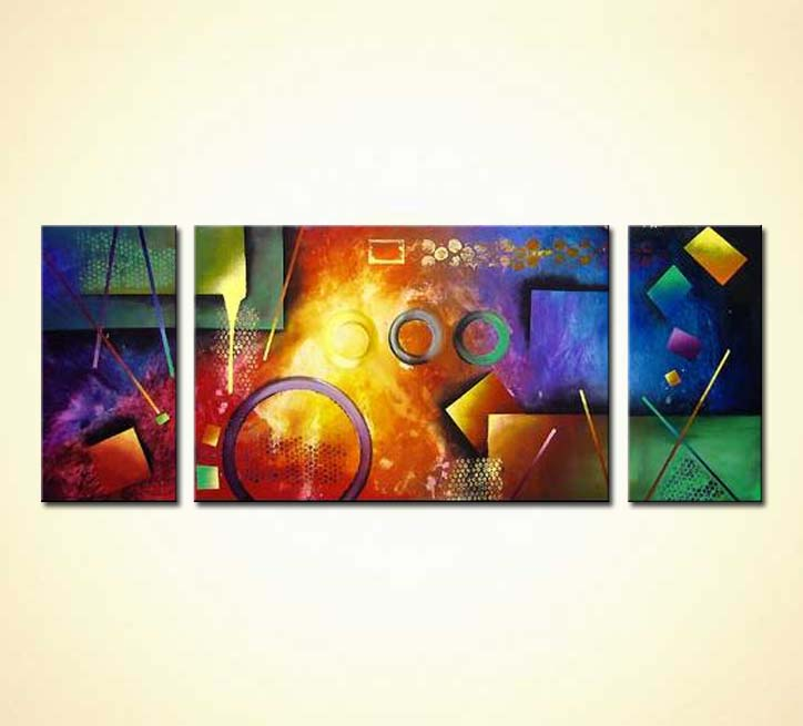 Buy Pool Table Abstract Painting - Pool table painting