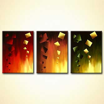 modern abstract art - Parallel Worlds