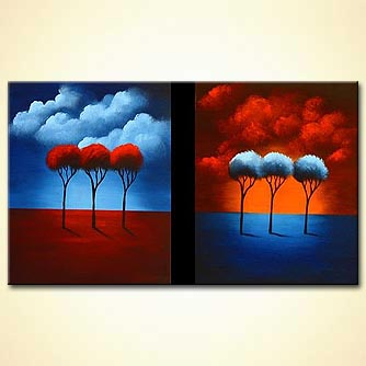 modern abstract art - Changing Seasons