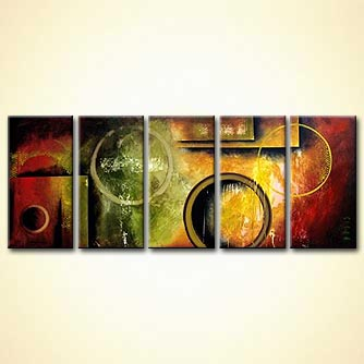 Abstract painting - Intergalactic Seed Messages