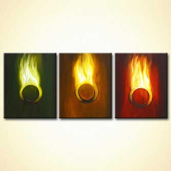 modern abstract art - Rings of Fire