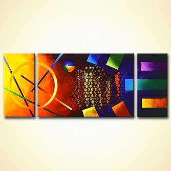 Abstract painting - Snooker