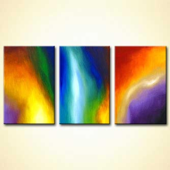 Abstract painting - Cosmic Lights