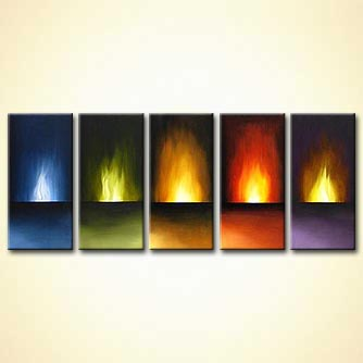 modern abstract art - Eternal Flames