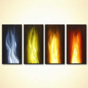 Abstract painting - Into the Fire