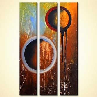 Abstract painting - Rings to the Unknown