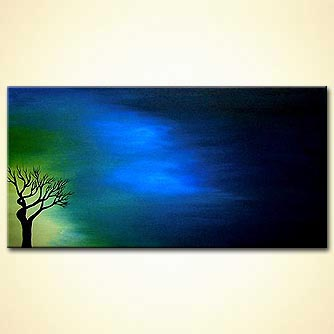 Landscape painting - Light Over Darkness
