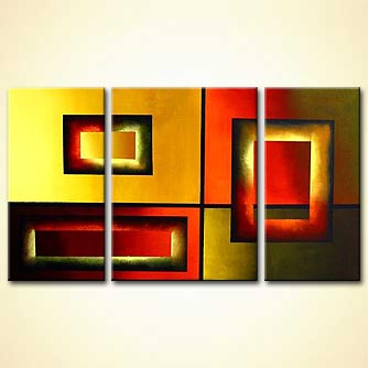 Abstract painting - It Aint Necessarily Different