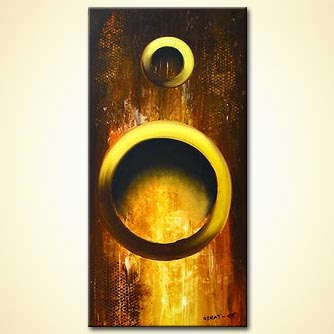 Abstract painting - Rings of Fire