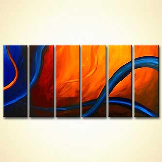 modern abstract art - When I Think of You