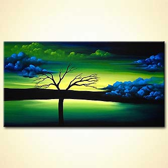 Landscape painting - You Can Never Say Goodbye When You Know You Were Loved