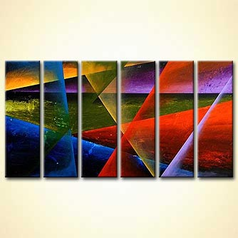 Abstract painting - Parallel Worlds