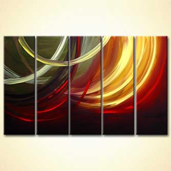 modern abstract art - Twists of Love