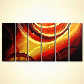 Abstract painting - Chariots of Fire