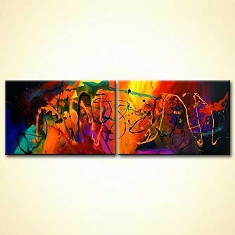 Abstract painting - Love Will Save the Day