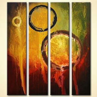 Abstract painting - Crop Circles