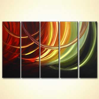 Abstract painting - The Tunnel of Love