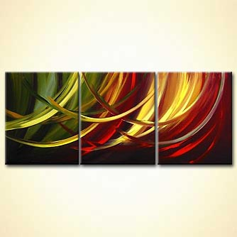 Abstract painting - Twists of Love