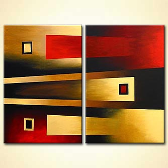 Abstract painting - Terms of Attraction