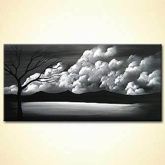 Landscape painting - I Can Make it Through the Rain