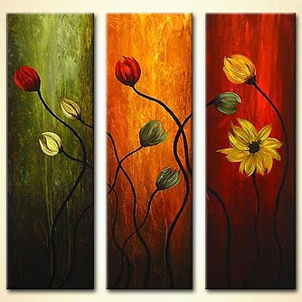 Floral painting - Flowers are for Love