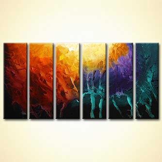Abstract painting - Rapture of the Deep