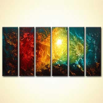 bright colorful abstract art